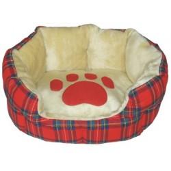 Kρεβάτι σκύλου οβάλ Scottish Red πατούσα