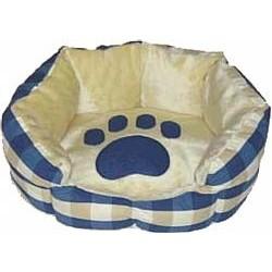 Kρεβάτι σκύλου οβάλ Cross blue πατούσα - μικρό