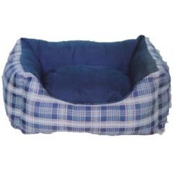 Kρεβάτι σκύλου Mπλέ καρώ LS113 - μικρό