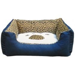 ρεβάτι σκύλου Mπλέ-Tιγρέ με πατούσα HZ249 - μεσαίο