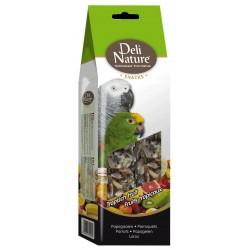 Deli nature sticks, fruit and honey, parrots